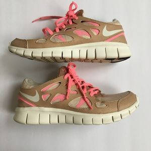 Women's Pink/Cream Nike Shoes Size 7